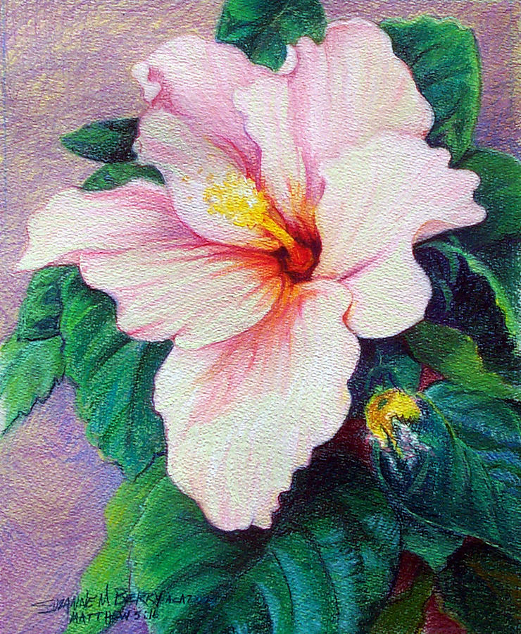 Flowers Painting - Hibiscus Light by Suzanne Berry