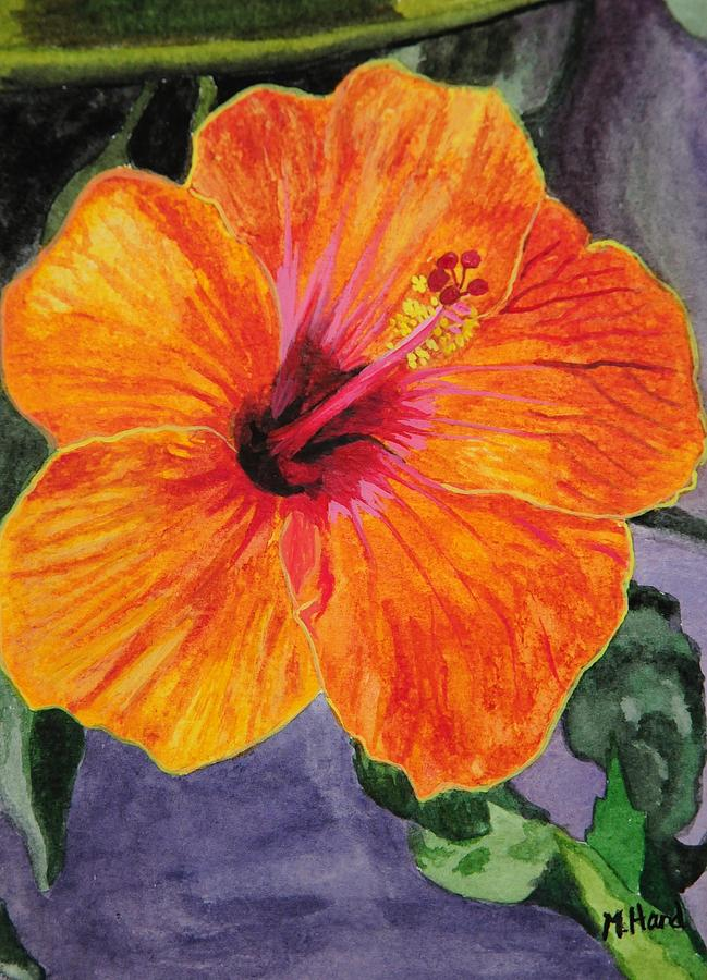 Hawaiian Flower-hawaii-flower Watercolors-watercolor Flowers-flower Paintings Painting - Hibiscus by Michelle Hand
