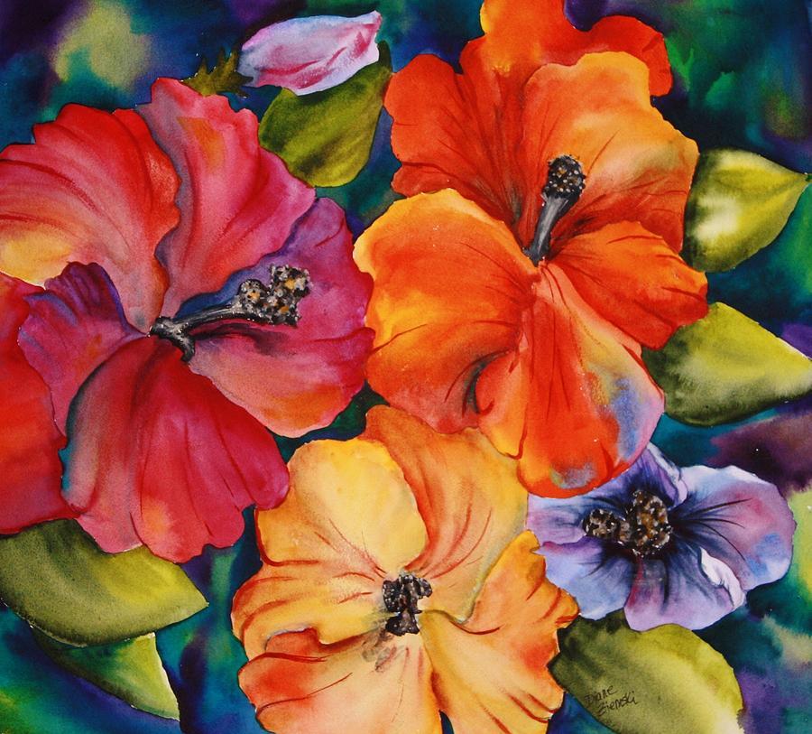 Hibiscus mini by Diane Ziemski