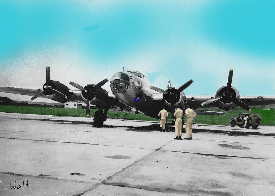 Aviation Digital Art - Hickam Fort by Walter Chamberlain