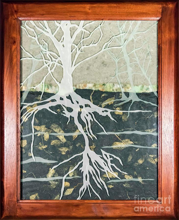 Handmade Paper Glass Art - Hidden... by Alone Larsen