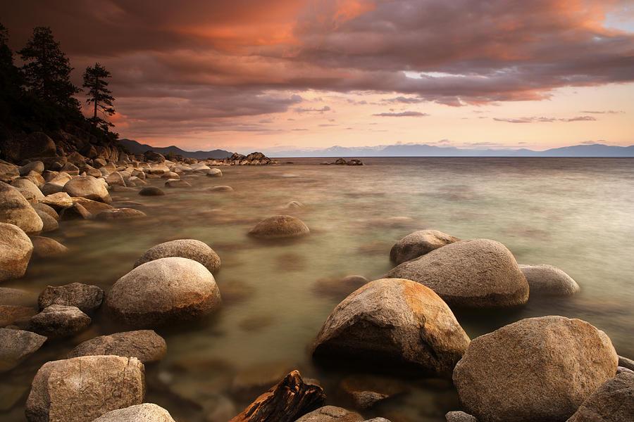 Nevada Photograph - Hidden Beach At Sunset by Eric Foltz