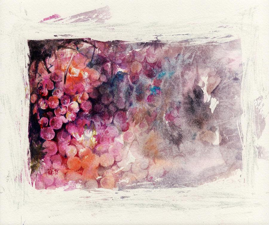 Grapes Painting - Hidden Beauty by Rachel Christine Nowicki