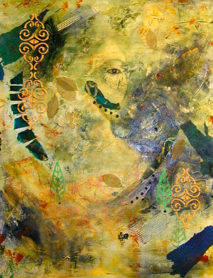 Abstract Painting - Hidden Beauty by Terry Honstead