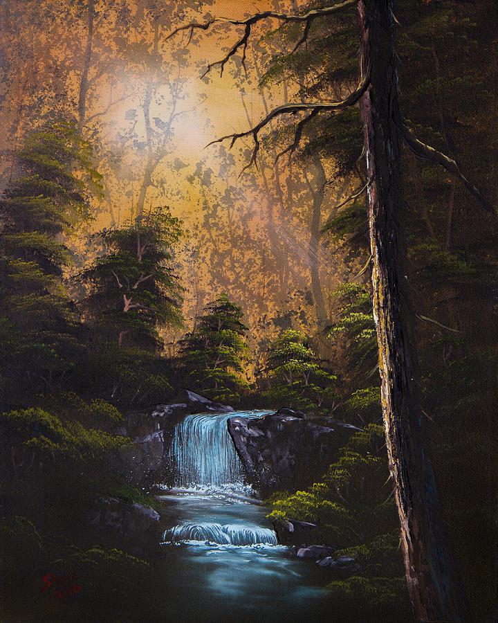 Landscape Painting - Hidden Brook by Chris Steele