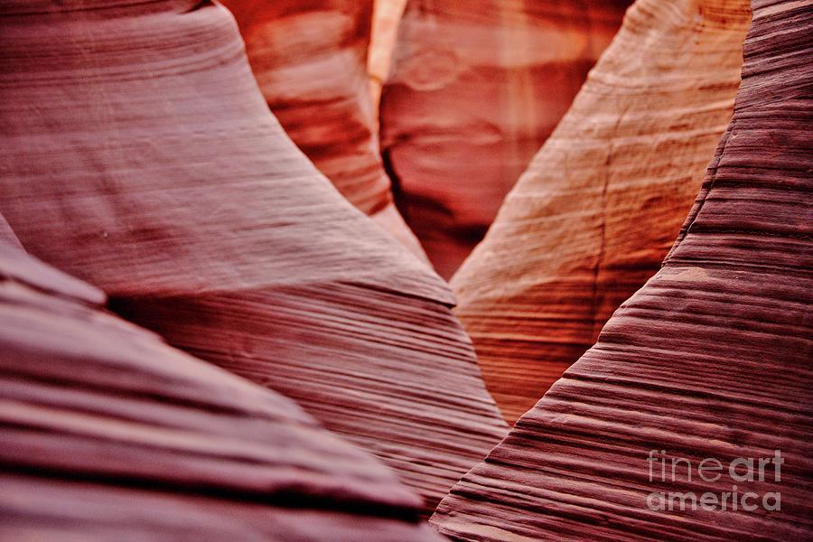 Ancient Photograph - Hidden Canyon Angles. by Michael Farndell