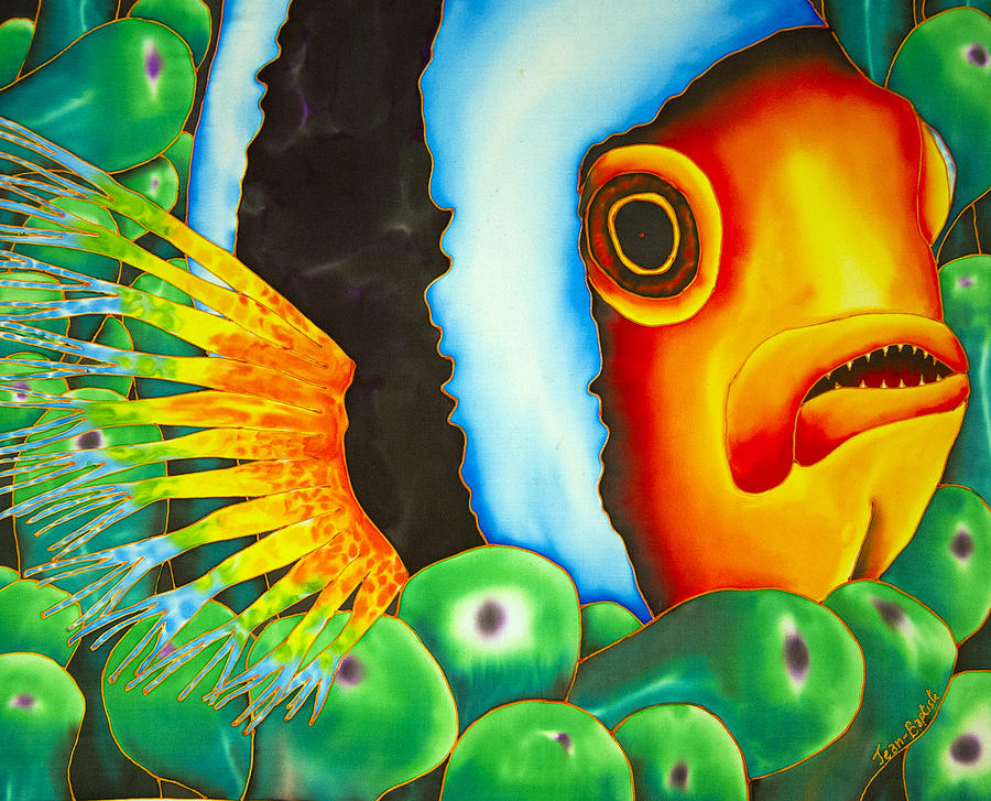 Abstract Painting - Hidden Clownfish by Daniel Jean-Baptiste
