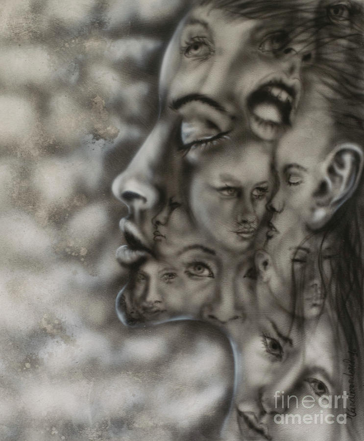 hidden faces painting by ronny vandierendonck
