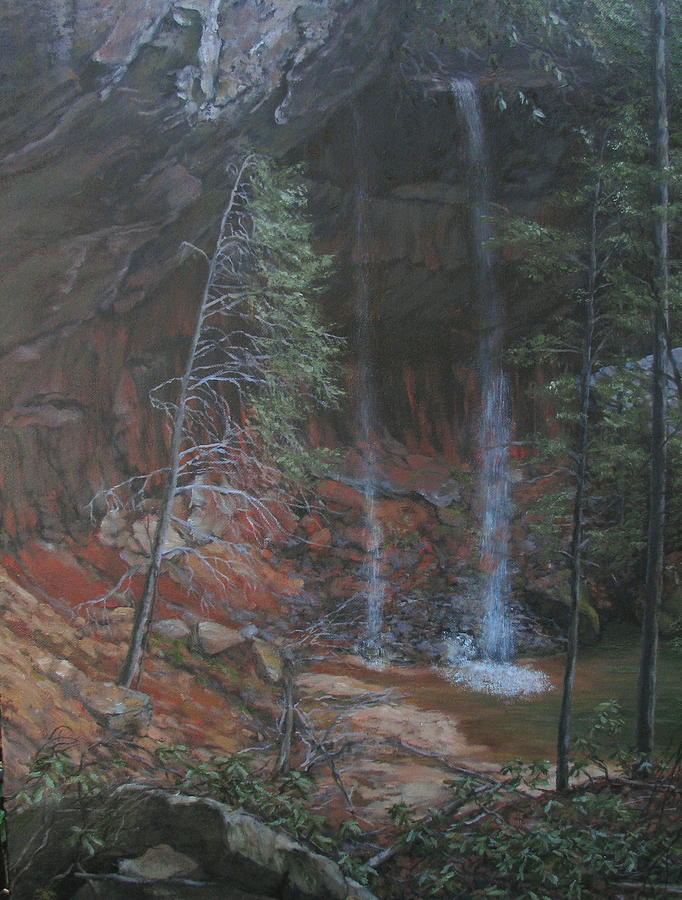 Landscape Painting - Hidden Falls by Stephen Howell