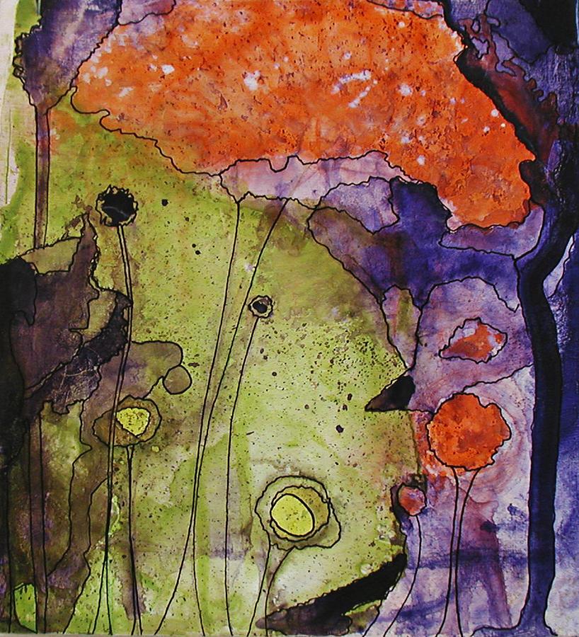 Forest Painting - Hidden Forest by Christy Sobolewski