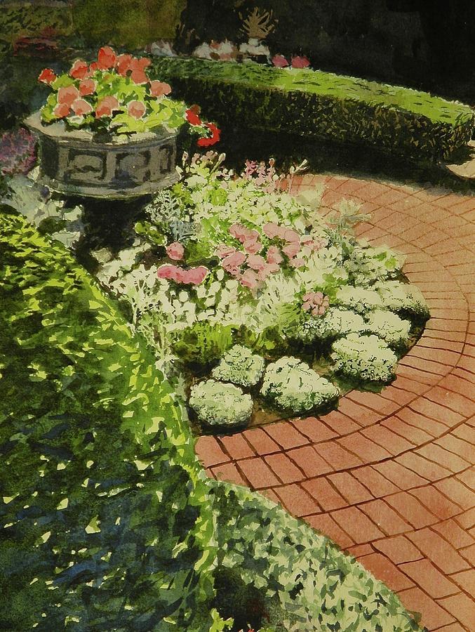 Flower Garden Painting - Hidden Garden In Quebec by Walt Maes