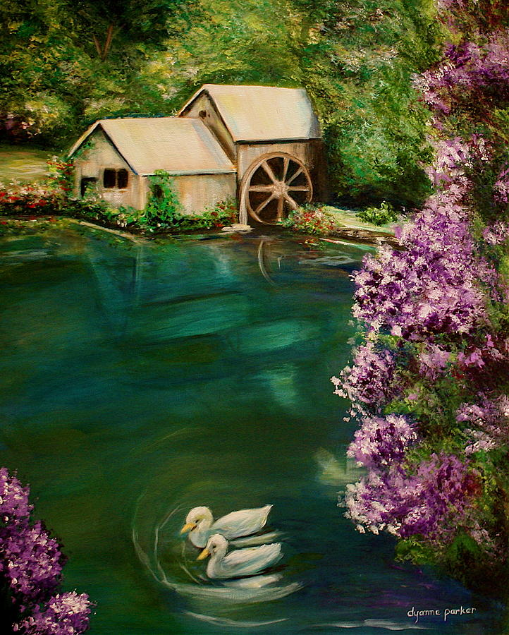 Landscape Painting - Hidden Lake by Dyanne Parker