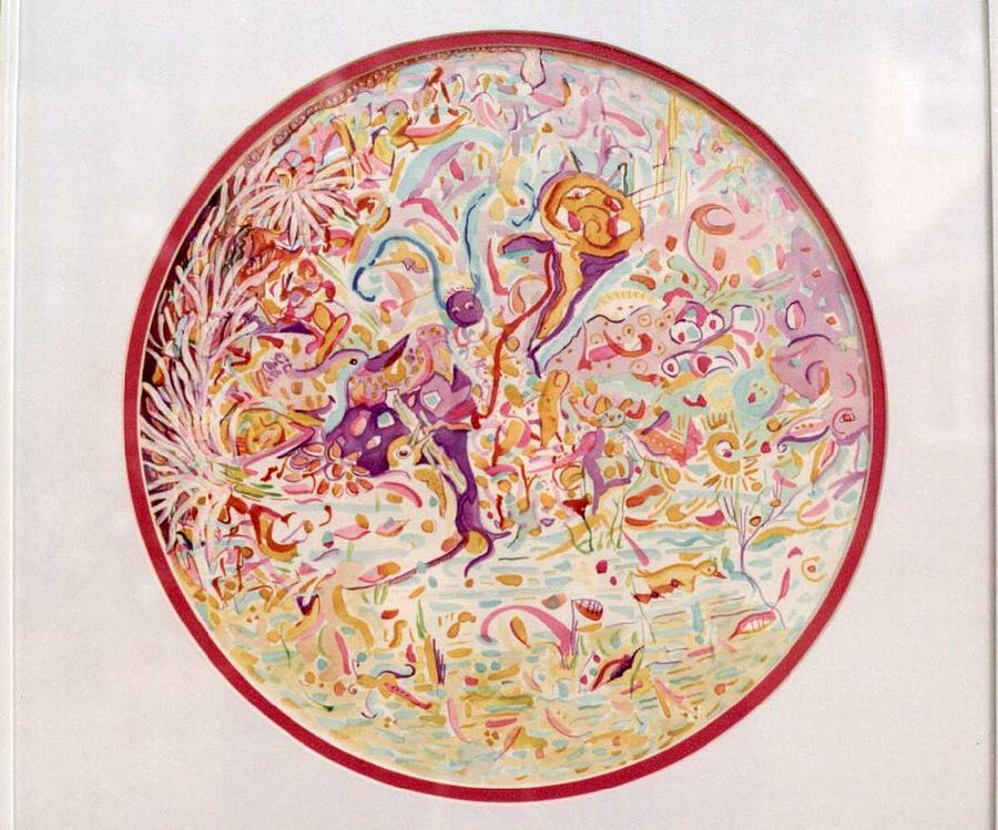 Pink Painting - Hidden by Marlene Robbins