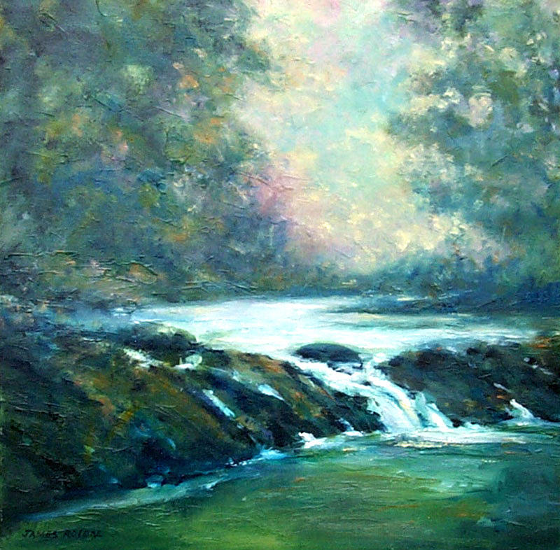 Oil Painting - Hidden Oasis by James Roybal