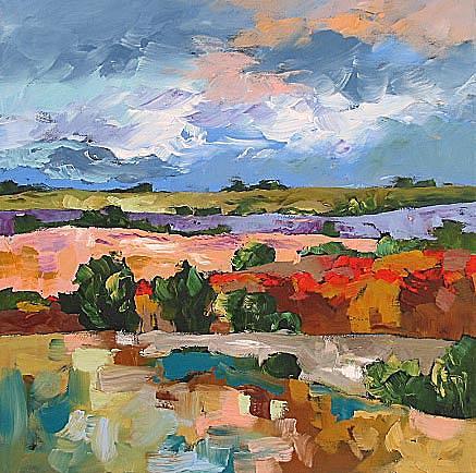 Original Painting - Hidden Paradise by Linda Monfort