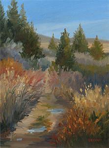 Landscape Painting - HIdden Path II by Jan Blencowe