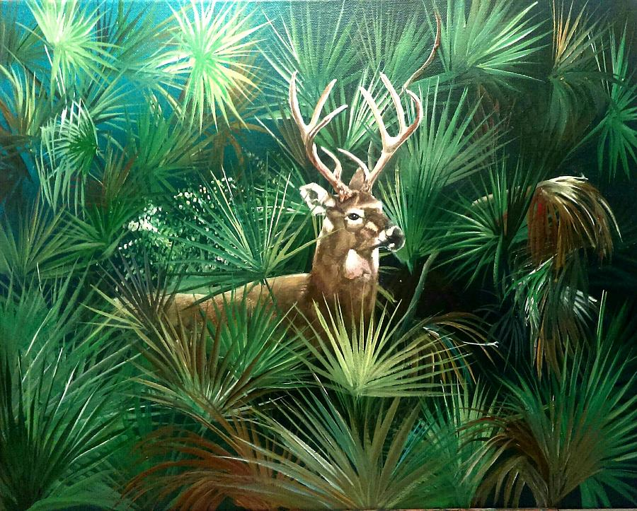 Landscape Painting - Hidden  by Sam Butler