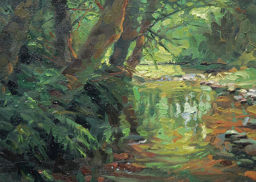 Country Painting - HIdden Stream by Steve Henderson