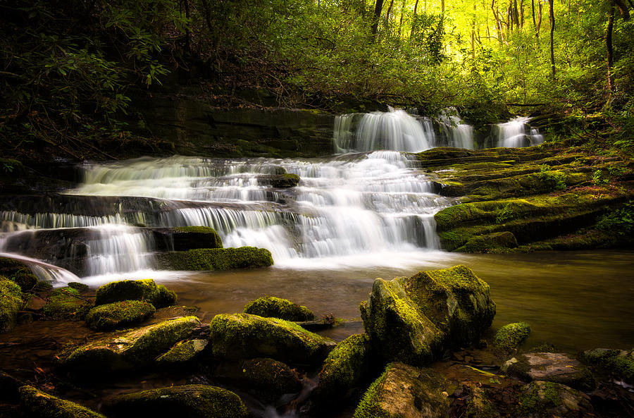 Hidden Trail Falls, Great Smokies by Tommy  White