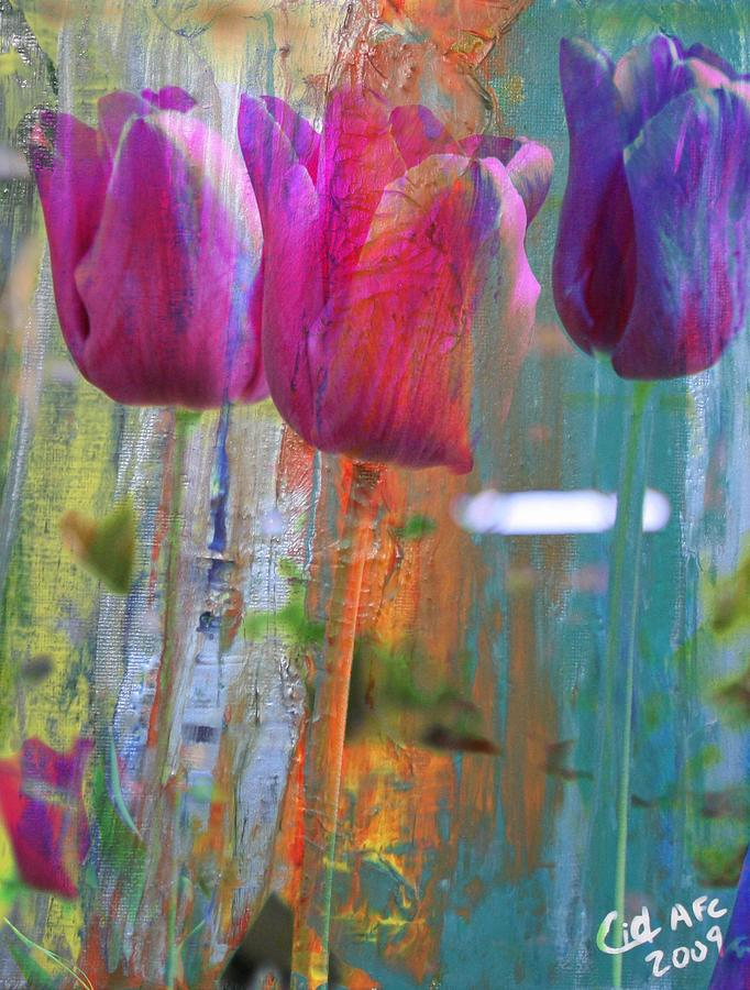 Cancer Mixed Media - Hidden Tulips by  Cid
