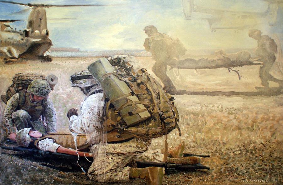 Military Artist Painting - Hidden Wings by Todd Krasovetz