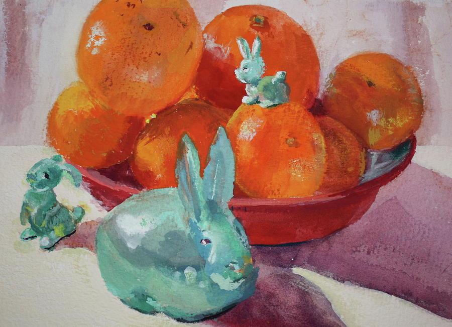 Gouache Painting - Hide And Seek by Pamela Sweet