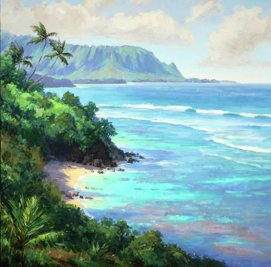 Kauai Painting - Hideaways Beach by Jenifer Prince