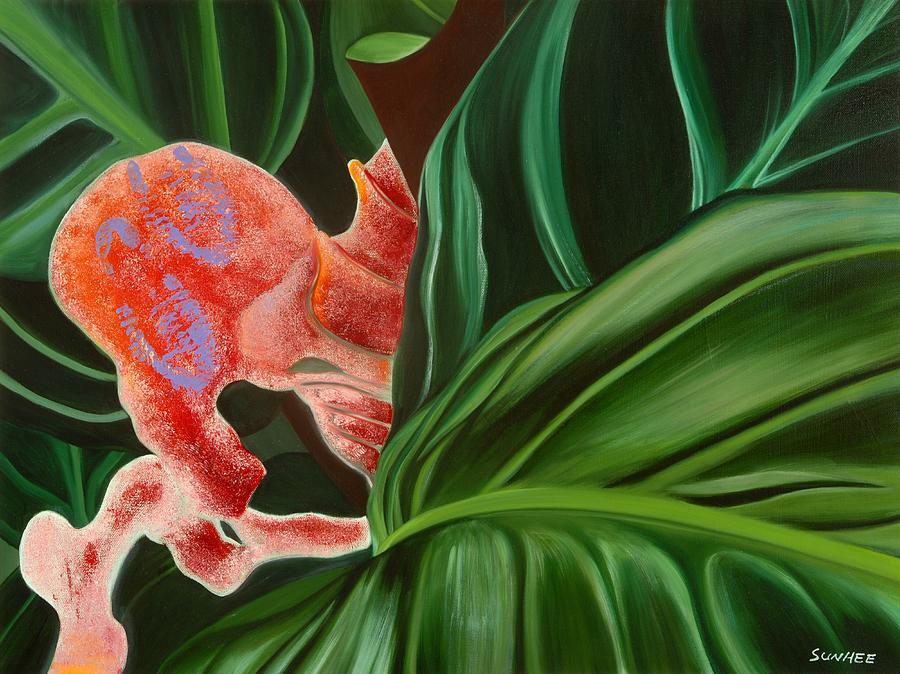 Floral Painting - Hiden Seek by Sunhee Kim Jung