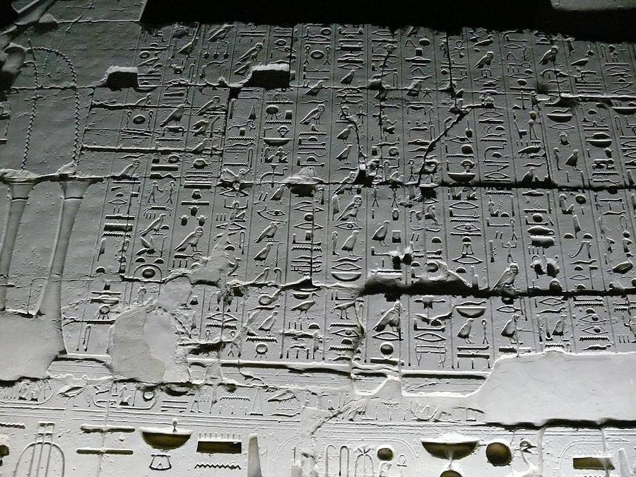 Hieroglyphics Digital Art - Hieroglyphics by Dorothy Binder
