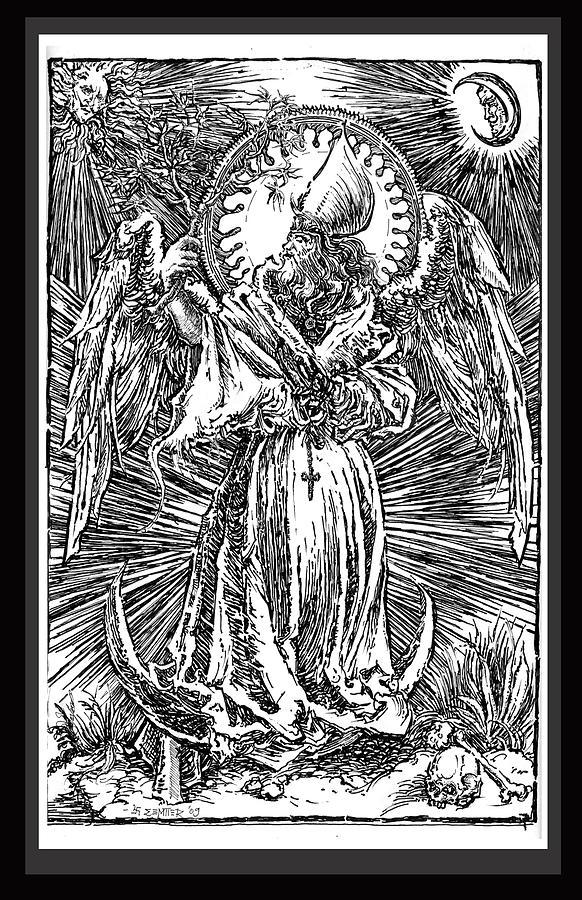 Surreal Drawing - Hierophant Of Entheogen by Gromyko Semper