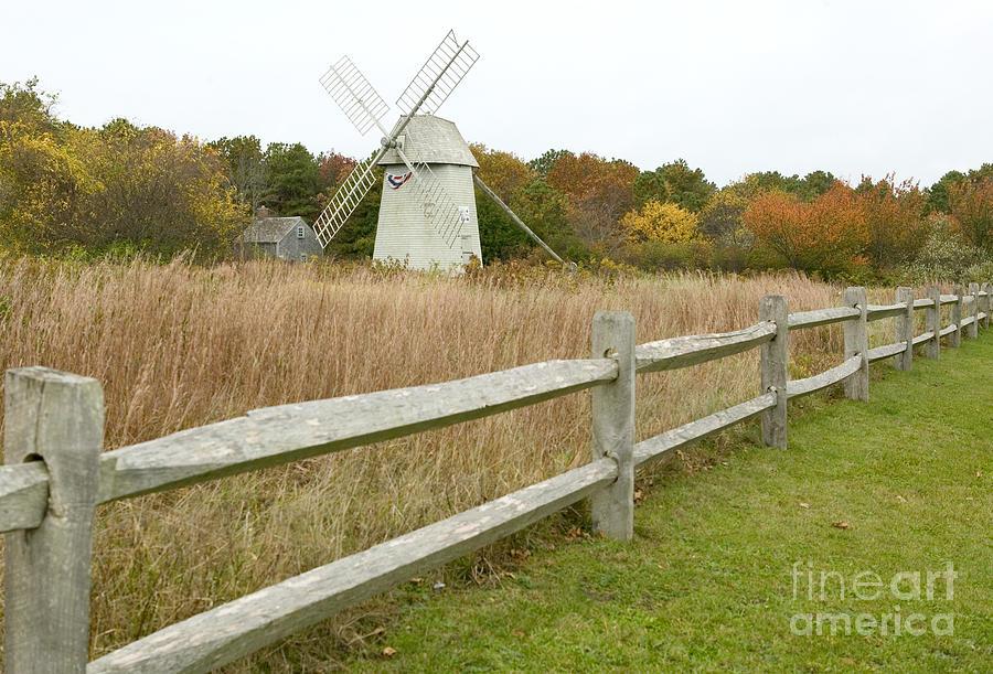 Higgins Farm Windmill Photograph - Higgins Farm Windmill Brewster Cape Cod by Matt Suess