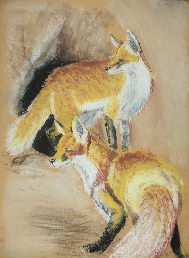 Fox Pastel - High Alert by Lane Owen