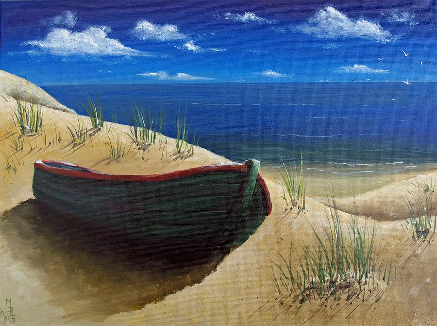 Boat Painting - High And Dry by Martin Girolami