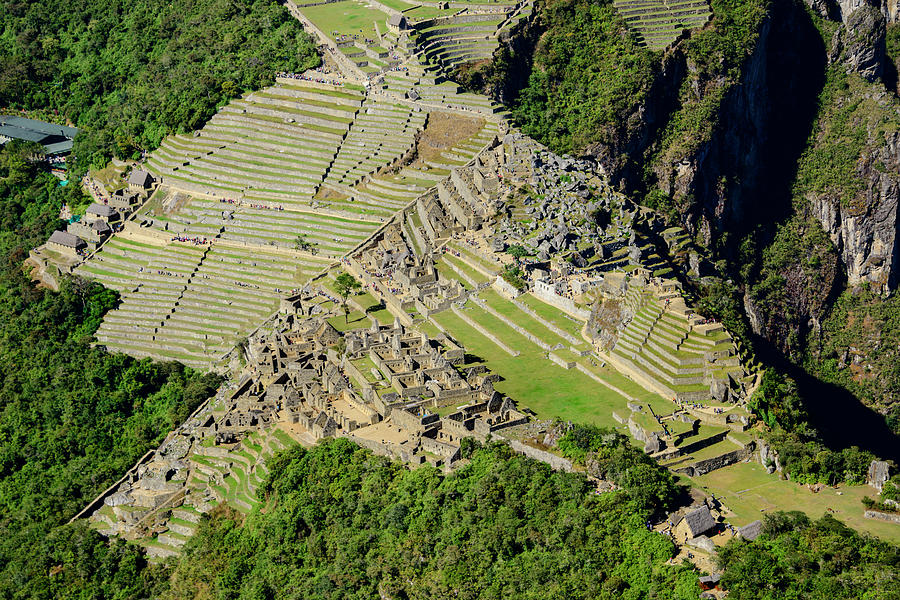 High Angle View of Machu Picchu by Oscar Gutierrez