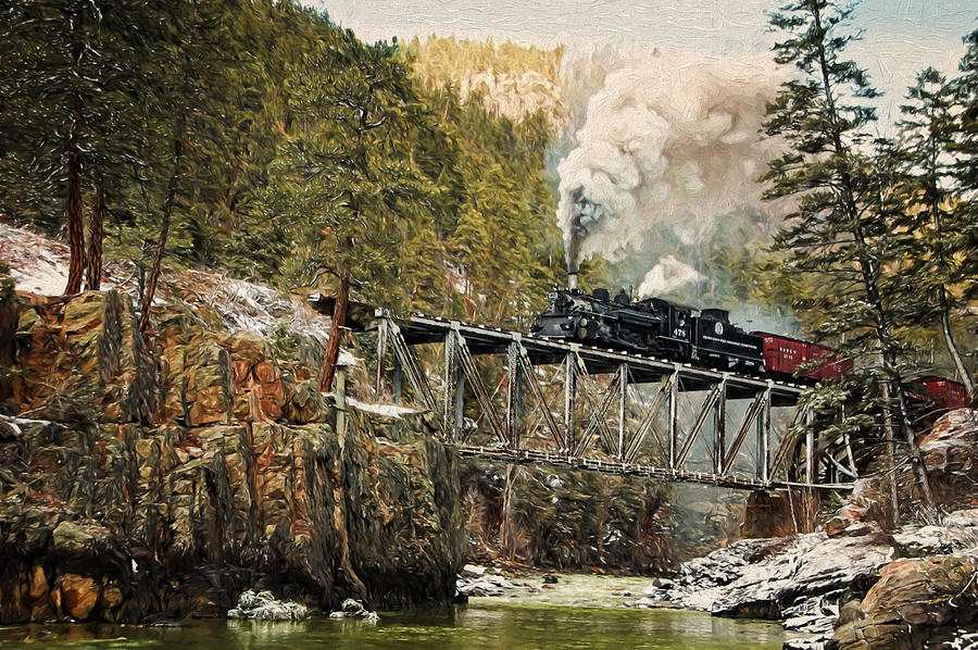 Steam Photograph - High Bridge by Ken Smith