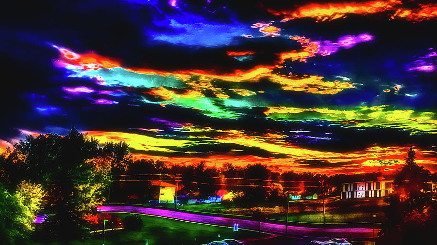 High Contrast Psychedelic Autumn Sunset Photograph by Ron ...
