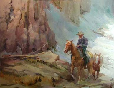 High Country Painting - High Country by Gil Ross