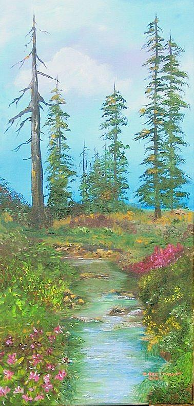 Wild Flowers Painting - High Country Rhododendrons by Shira Diana Breithaupt