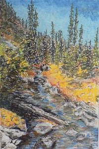 Woods Painting - High Country Stream by Dan Bozich