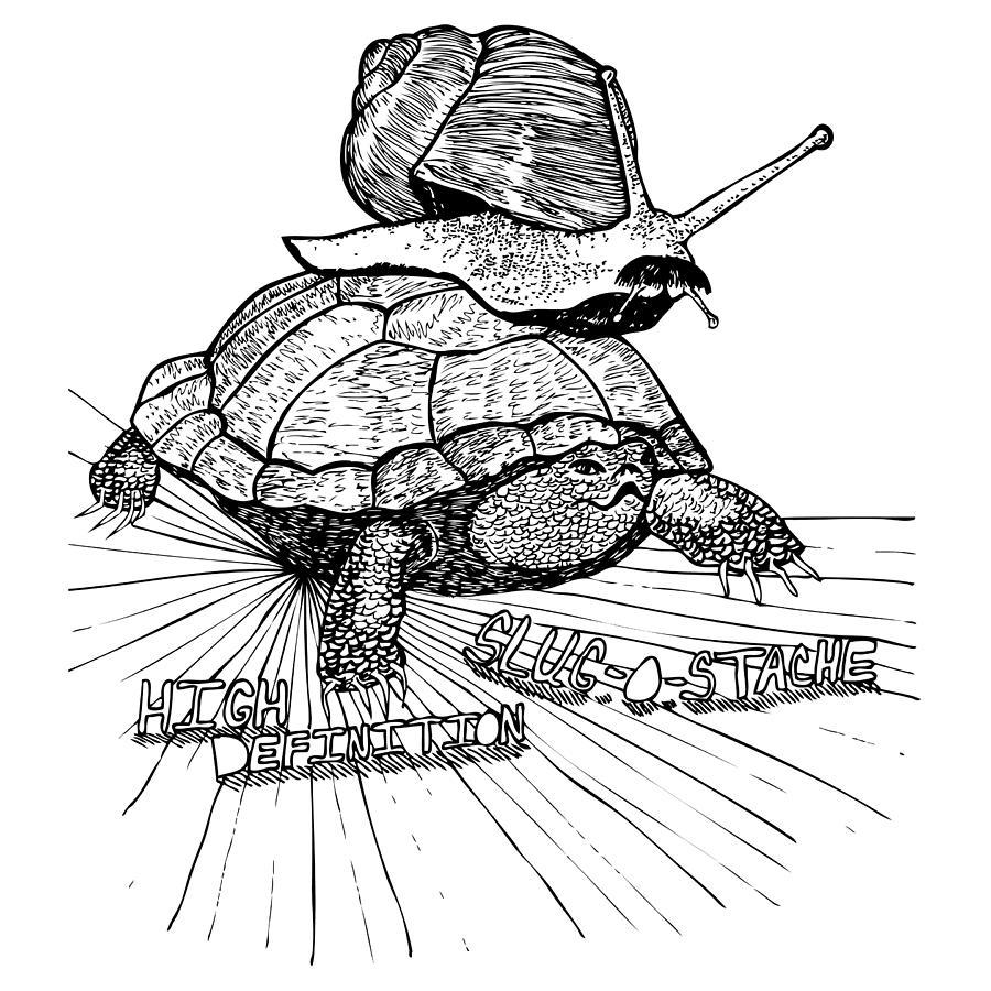 Drawing Drawing - High Definition Slug O Stache by Karl Addison