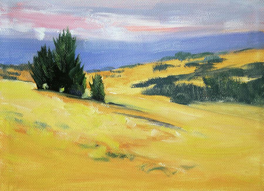 High Desert Painting - High Desert Horizon by Nancy Merkle
