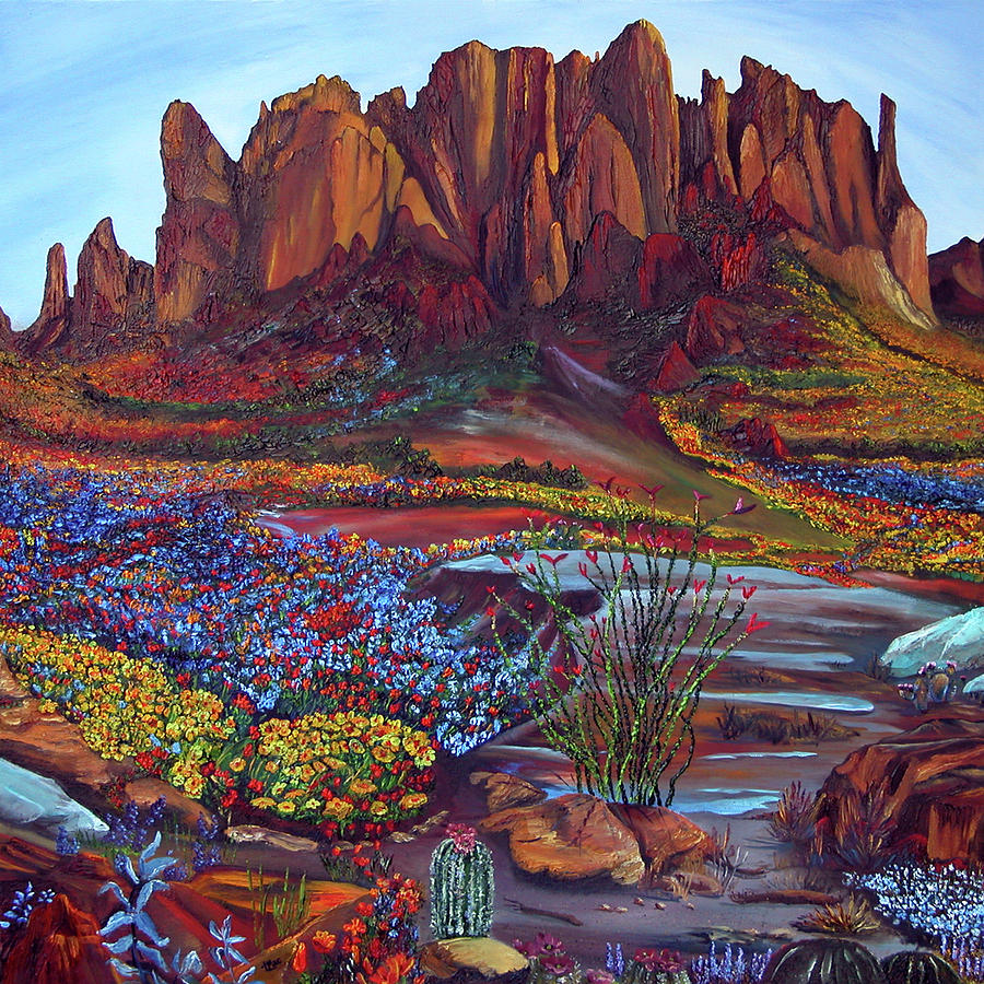 Landscape Painting - High Desert Spring by Terry R MacDonald