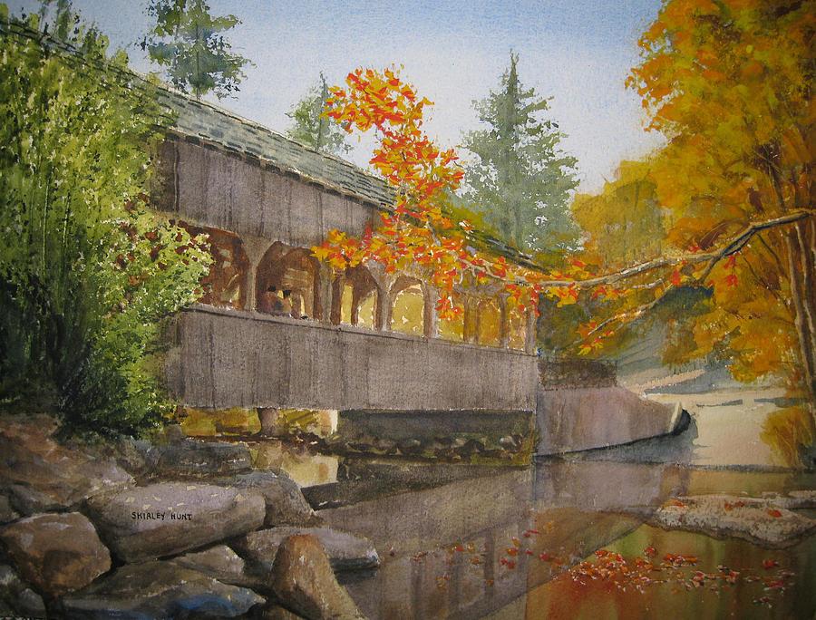 Covered Bridge Painting - High Falls Bridge by Shirley Braithwaite Hunt