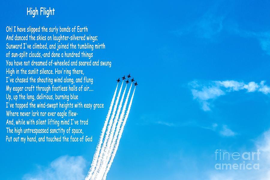 High Flight Photograph - High Flight by Jon Burch Photography