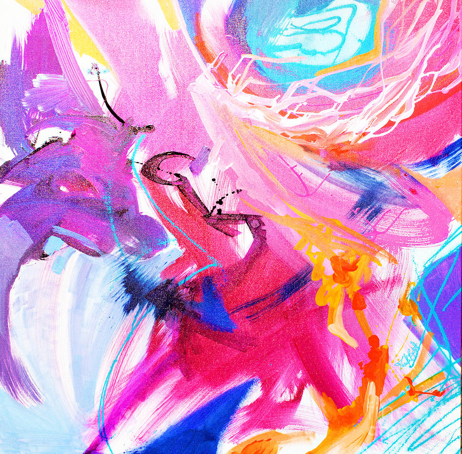 High Flying Painting by Priscilla Batzell Expressionist Art Studio Gallery