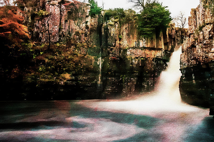 Tees Photograph - High Force With A Watercolour Effect. by Paul Cullen