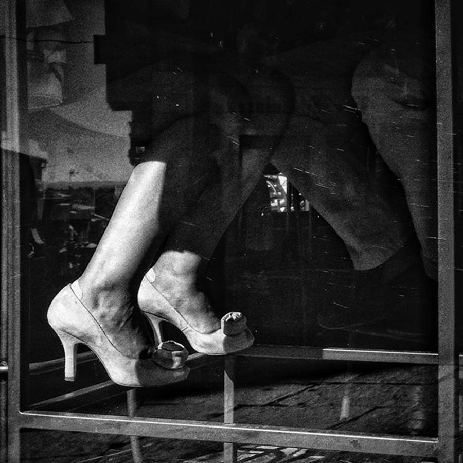 Blackandwhite Photograph - High Heels  #highheels #shoes #feet by Rafa Rivas