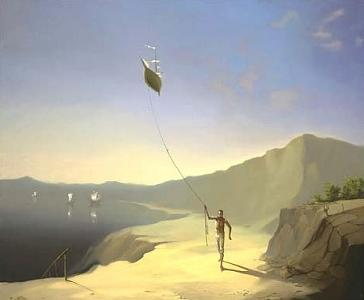 Kite Painting - High Hopes by Victor Bregeda