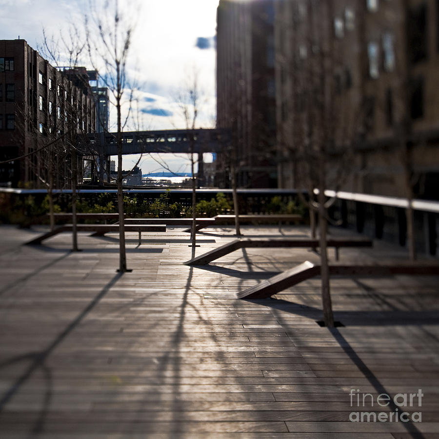 Architectural Detail Photograph - High Line Park by Eddy Joaquim