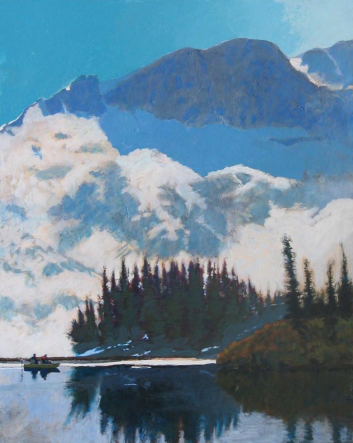 Lake Painting - High Mountain Lake by Robert Bissett